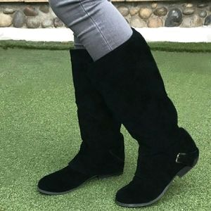 """""""Naughty Monkey""""🙊 Doubled Suede Boot Zip/ Stirrup"""